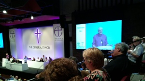 Bishop Pete Broadbent answering Questions without a script